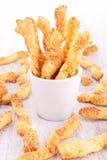 Cheese puff pastry Stock Photo