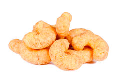 Cheese puff. S isolated on white background Stock Photos