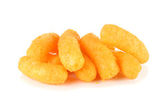 Cheese puff snack Royalty Free Stock Image