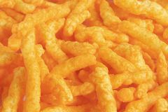 Cheese Puff Snacks Stock Photo