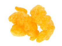 Cheese Puff Snacks laid out with Stock Photography