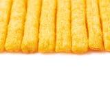 Cheese puff sticks isolated Stock Photo