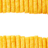 Cheese puff sticks isolated Royalty Free Stock Photography