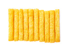 Cheese puff sticks isolated Stock Photography