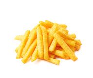 Cheese puff sticks isolated Royalty Free Stock Photo