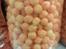 Cheese puffs stock image