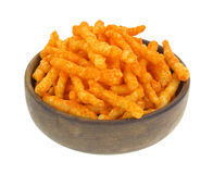 Cheese Puffy Crunchies In Bowl Royalty Free Stock Image