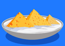 Cheese pyramids, with sour cream Royalty Free Stock Images