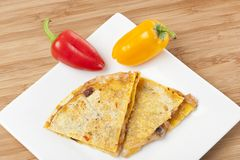 A cheese quesadilla Stock Photos