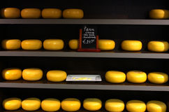 Cheese rack in Amsterdam Stock Image