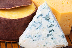 Cheese in the range of close-up Stock Image