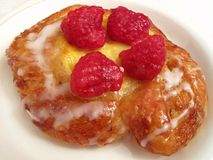 Cheese Raspberry Danish Royalty Free Stock Photos