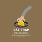 Cheese In A Rat Trap Royalty Free Stock Image