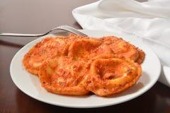 Cheese ravioli Stock Photo