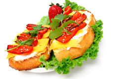 Cheese And Red Pepper Sandwich Royalty Free Stock Images