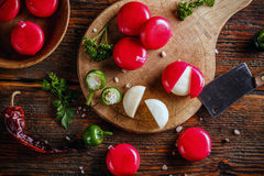 Cheese in red wax Royalty Free Stock Photo
