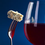 Cheese and red wine Stock Photo