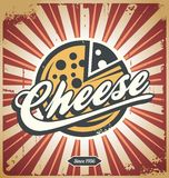 Cheese retro metal sign Royalty Free Stock Photos