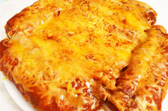 Cheese Rich Enchiladas stock photography