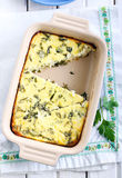 Cheese and rocket gratin Royalty Free Stock Images