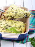 Cheese and rocket gratin Stock Photo