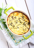 Cheese and rocket gratin Royalty Free Stock Photography