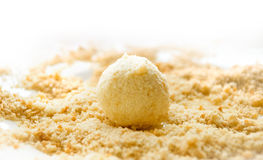 Cheese rolled in breadcrumbs Stock Photo