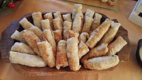 Cheese rolls. For a business meeting Stock Photography