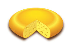 Cheese round Stock Images