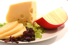 Cheese and Salad Royalty Free Stock Photo