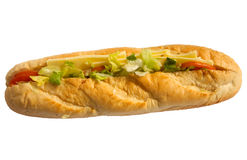 Cheese salad baguette. Stock Image