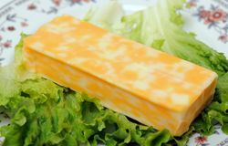 Cheese and salad Stock Image