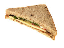 Cheese and Salad Sandwich Royalty Free Stock Image