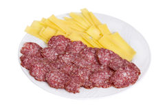Cheese and salami Royalty Free Stock Image