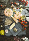 Cheese and Salami Stock Image