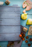 Cheese and Salami Royalty Free Stock Images
