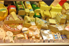 Cheese for sale Royalty Free Stock Photos