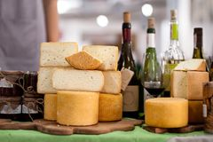 Cheese on sale Royalty Free Stock Photos