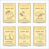 Cheese sale tag banners Stock Photos