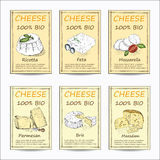 Cheese sale tag banners Stock Photography