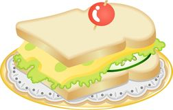 Cheese sandwich Stock Images