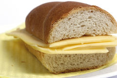 Cheese sandwich. Sandwich with cheese Royalty Free Stock Photo
