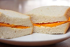 Cheese sandwich Royalty Free Stock Photography