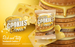 Cheese sandwich cookies Royalty Free Stock Photo