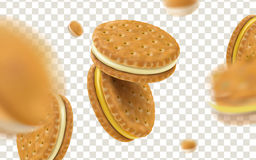 Cheese sandwich cookies Royalty Free Stock Images