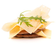 Cheese sandwich isolated on white background cutout Royalty Free Stock Photography