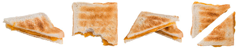 Cheese Sandwich isolated on white Stock Photography