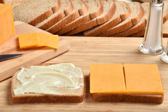 Cheese sandwich Stock Photos