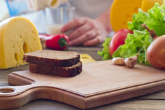 A cheese sandwich Stock Photo