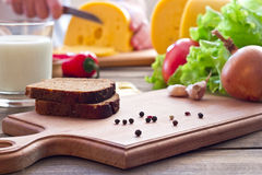 A cheese sandwich Stock Images